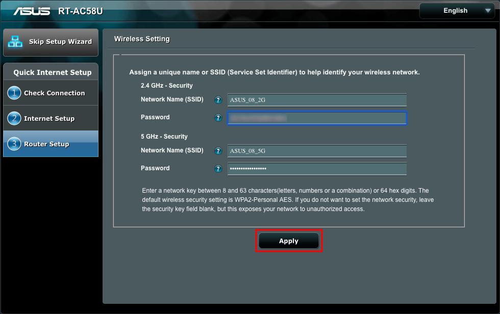 Asus VPN router setup step 2