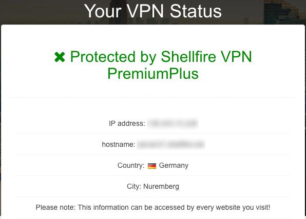 Shellfire VPN protected
