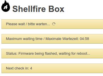 Shellfire Box update status